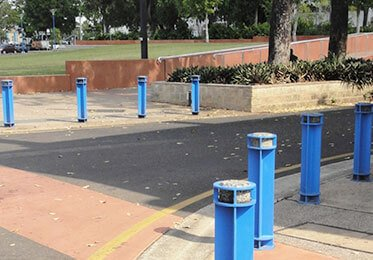 Bollards + Light Poles + Banner Poles
