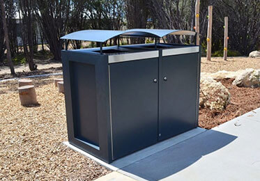 Litter Bins + Bin Enclosures