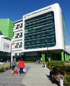 Perth Children's Hospital Bench Seats by Cox Urban Furniture
